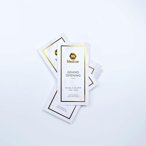 Invitation card Foil Gold